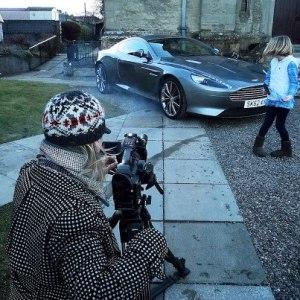 Aston Martin filming