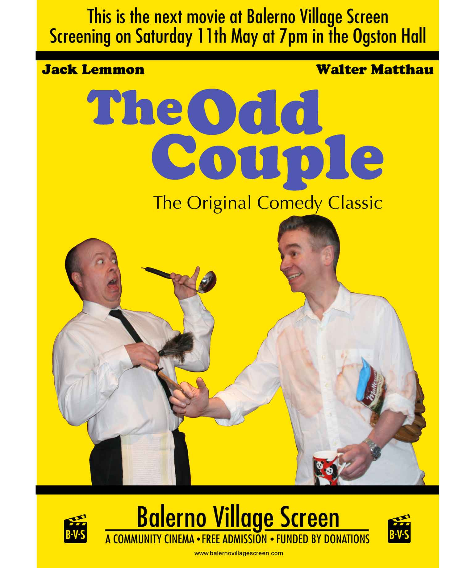 Our very own 'Odd Couple' - Balerno Village Screen